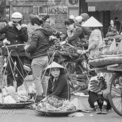 Market Street In Hanoi, Vietnam