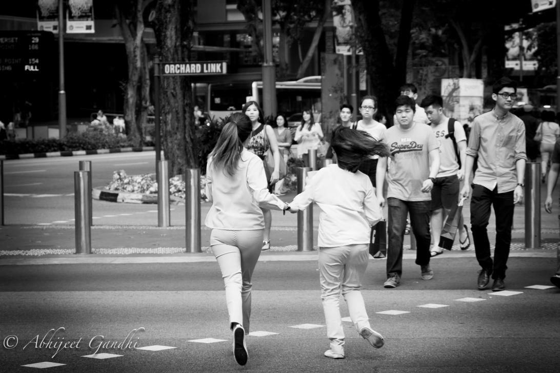Singapore Orchard Road Pedestrian Running