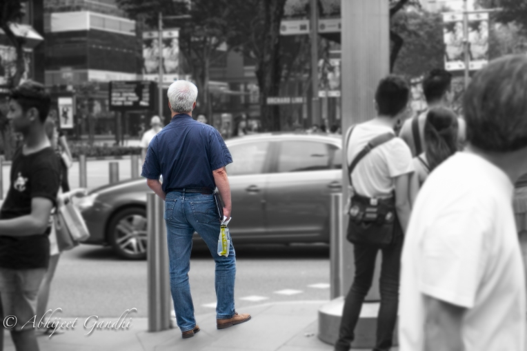 Singapore Orchard Man In Blue