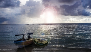 Boat at Sea Mauritius